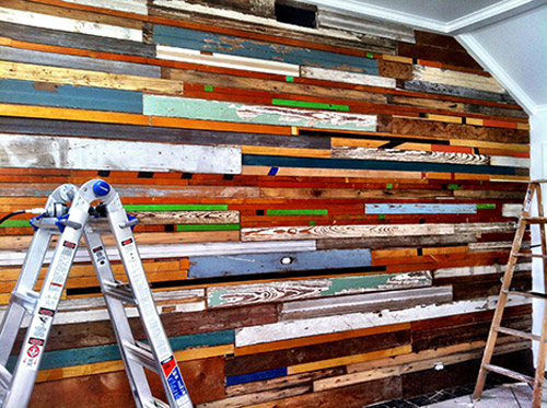 Using Waste Wisely – Salvaged Wood Wall